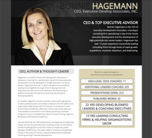 Bonnie Hagemann WordPress Website