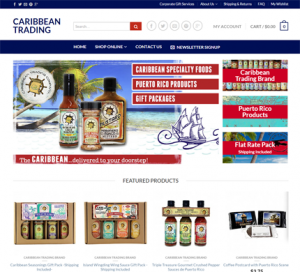 Caribbean Trading WordPress Website eCommerce
