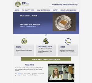 Cell Microsystems WordPress Website