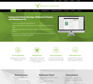 SurveySaurus WordPress Website