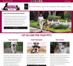 West Hartford Pet Sitters WordPress Website